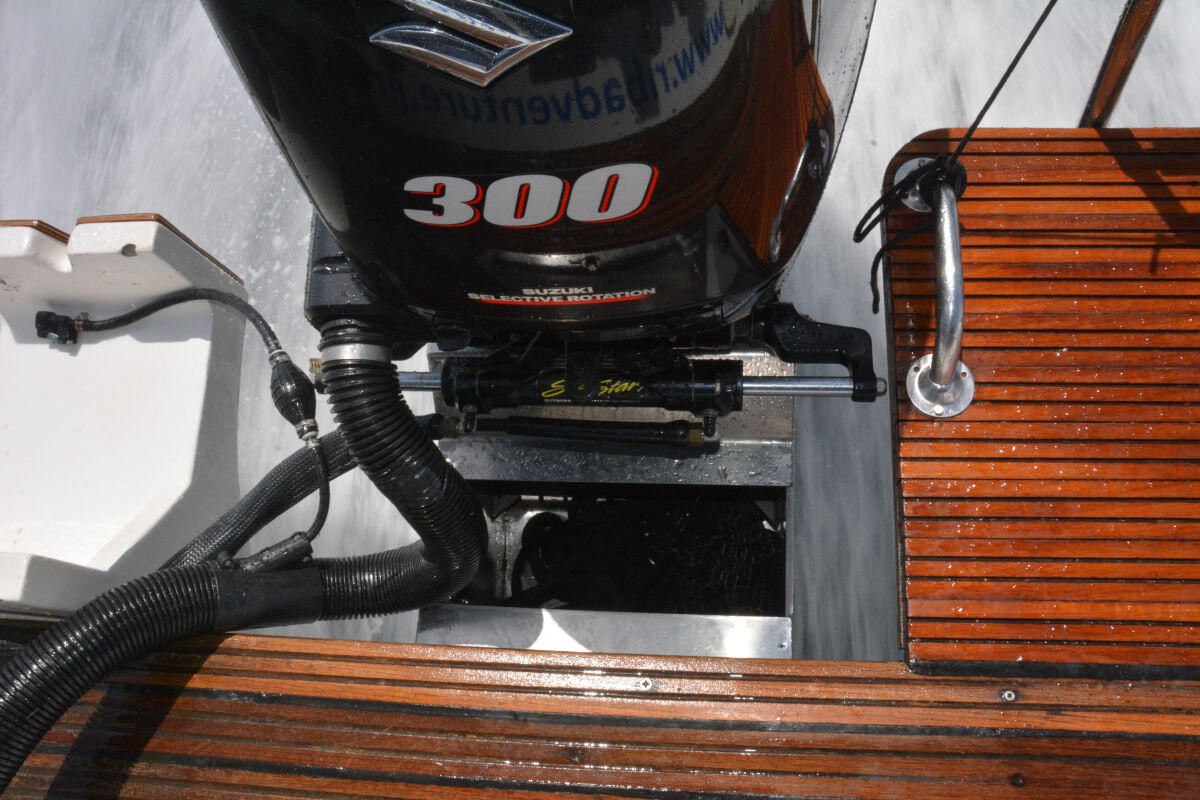 outboard on a bracket